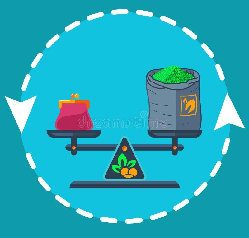 Privat handellägenhet för symbol vektor illustrationer