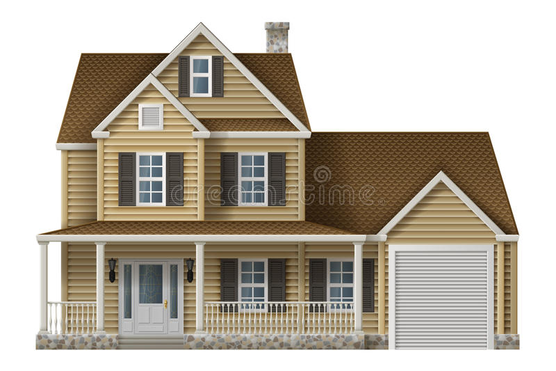 Privat hus för bygd vektor illustrationer