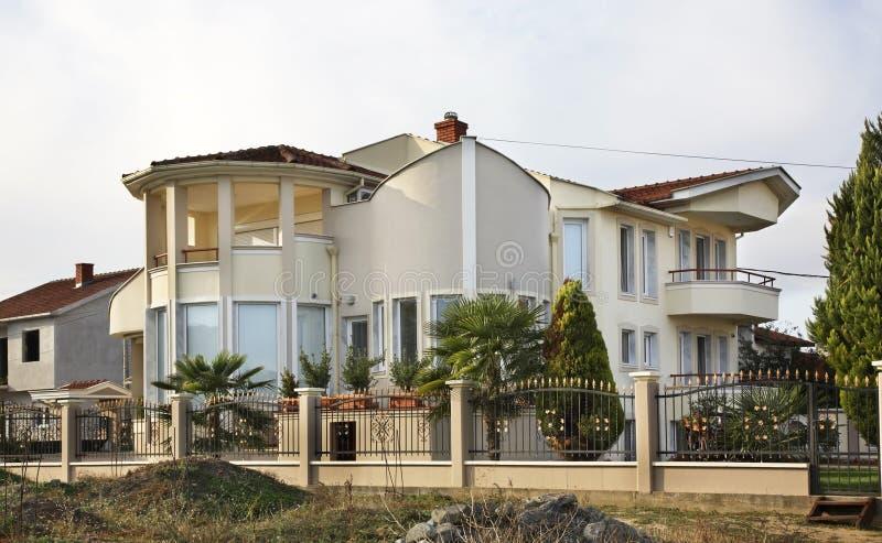 Privat hus i Gevgelija macedonia arkivbild