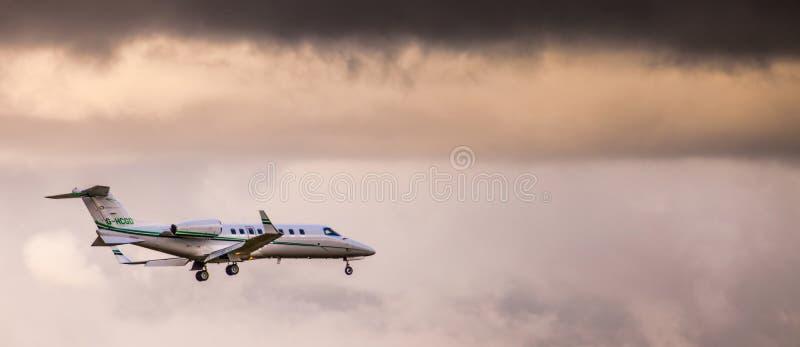 Privat jet fotografering för bildbyråer
