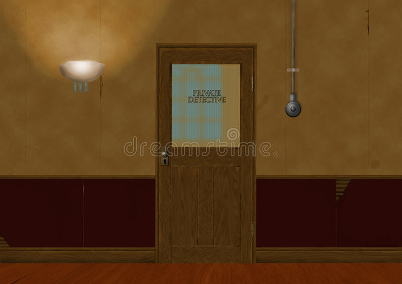 Privat kriminalare royaltyfri illustrationer