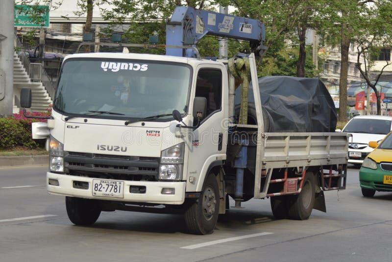 Privat lastbil med kranen royaltyfri fotografi