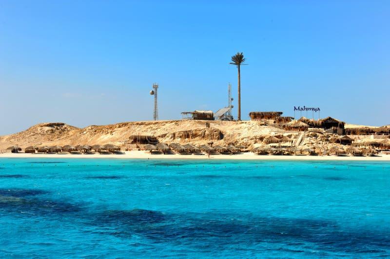 Privat paradisö i Röda havet för fritidhandelsresande arkivfoton