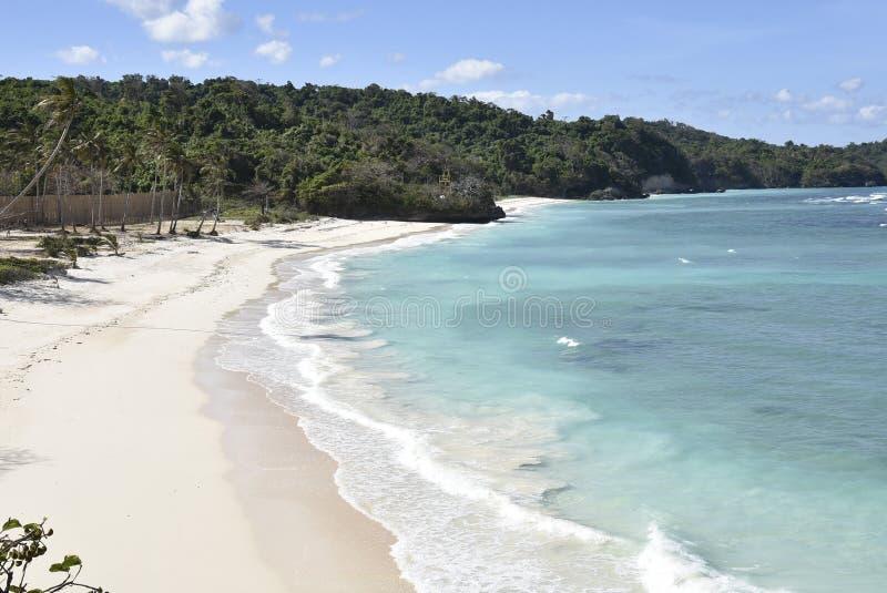 Privat strand på farleder och Bluewater royaltyfria bilder