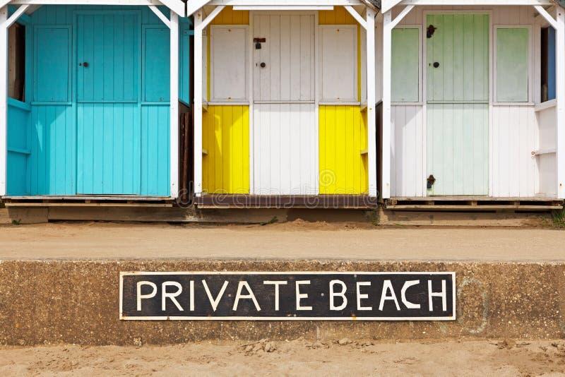 Privata strandkojor royaltyfri foto