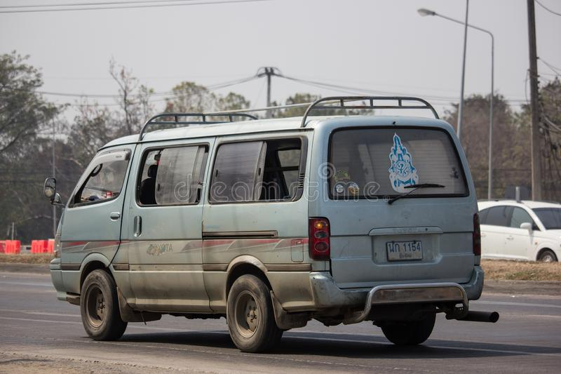 Privata Toyota Hiace gamla Van Car arkivfoton