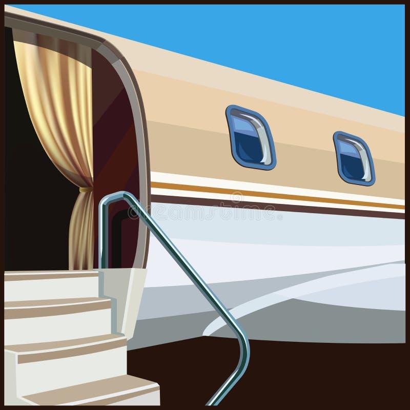 Private aviation illustration stock illustration
