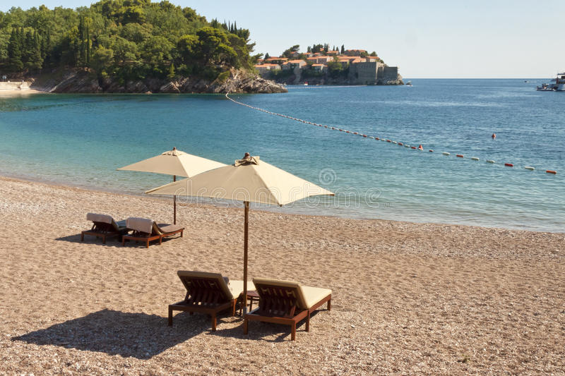 Private beach - Montenegro stock photography