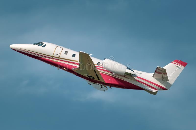 Private business jet royalty free stock images