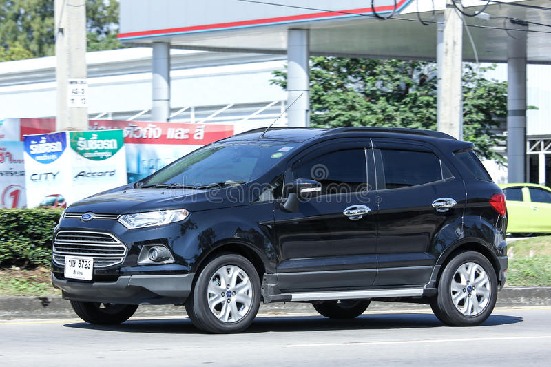 Private car, Ford Ecosport, Suv car for Urban User. CHIANG MAI, THAILAND - OCTOBER 30 2016: Private car, Ford Ecosport, Suv car for Urban User. On road no.1001 royalty free stock photography