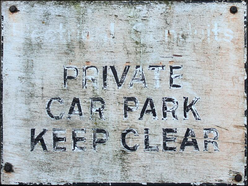 private car park sign stock photography