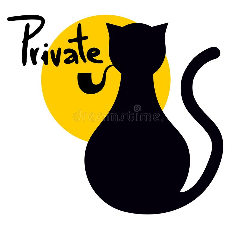 Download Private cat stock photo. Image of label, prevent, poster - 32555874