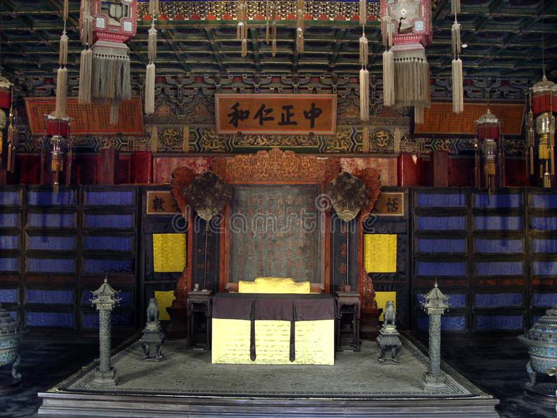 Private chamber in the Forbidden City in Beijing, China royalty free stock image