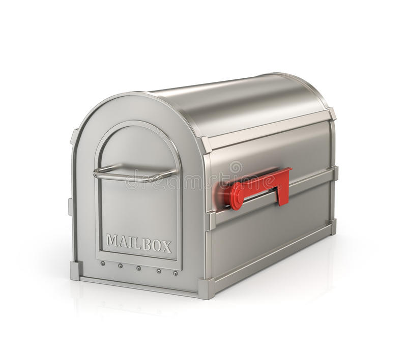 Private (closed) mailbox stock illustration