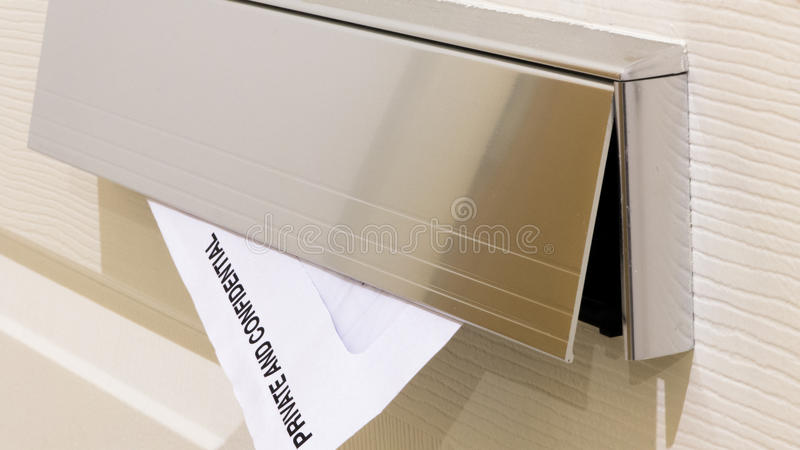 Letter box - Private and confidential stock photos