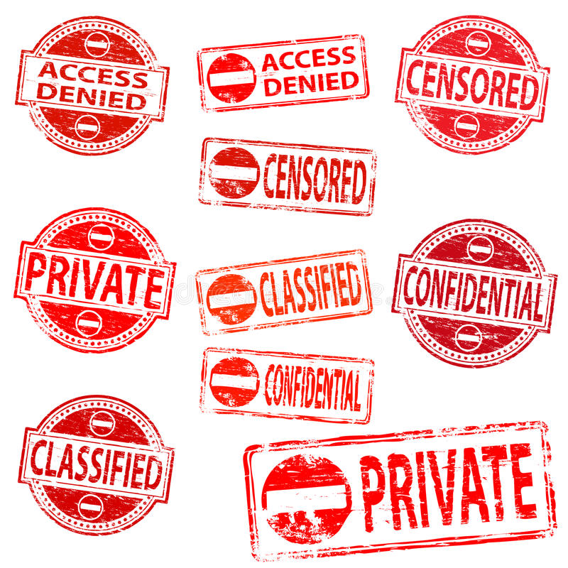 Download Private And Confidential Rubber Stamps Royalty Free Stock Image - Image: 22667686