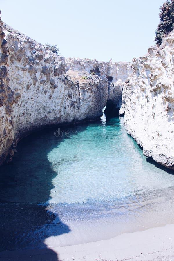 Papafragas beach, Milos Island, Greece royalty free stock photo