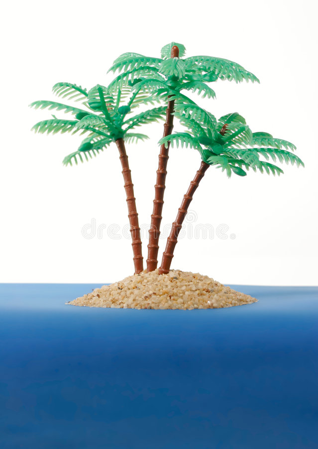 Private desert island royalty free stock photography