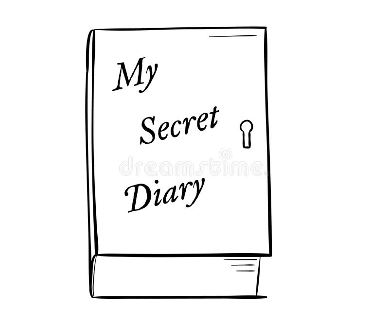 Private diary royalty free illustration