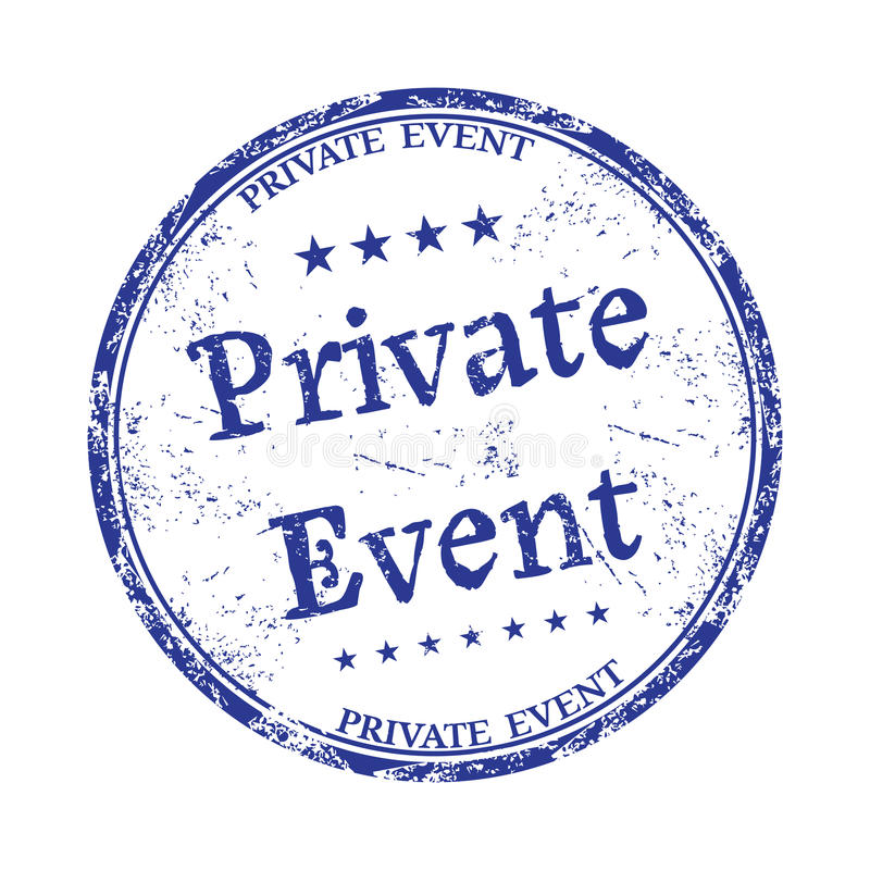 Private event rubber stamp stock photography