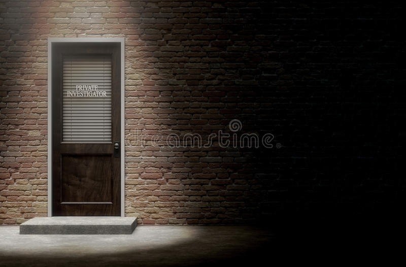 Private Eye Door Outside royalty free illustration