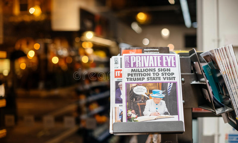 He Private Eye newspaper featuring Queen Elizabeth of England stock images