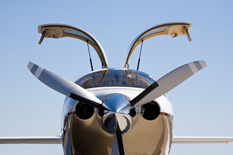 Private Flugzeuge stockfoto