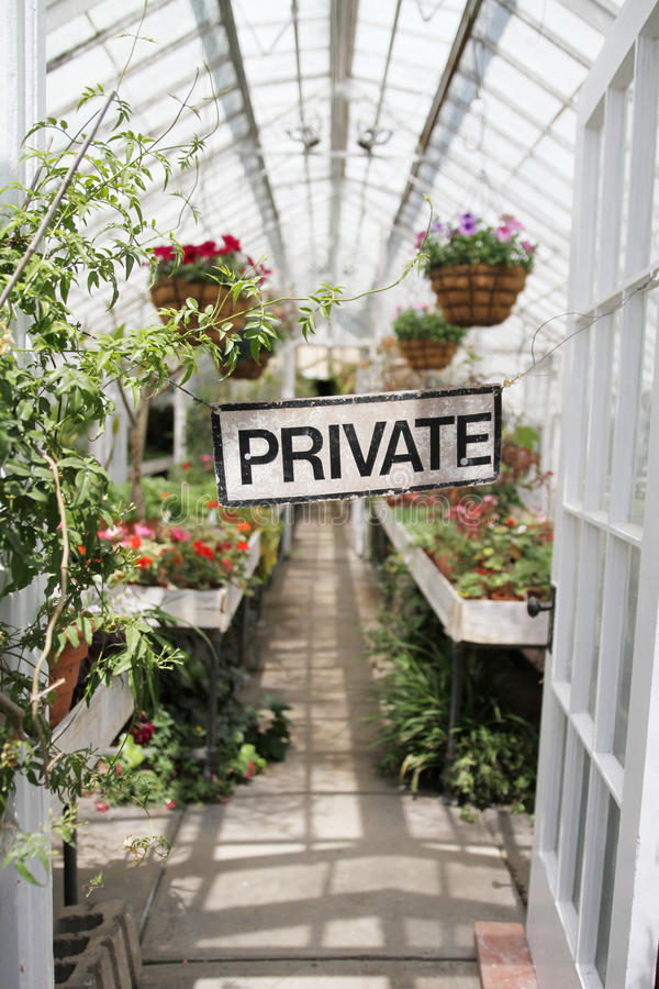 Private greenhouse royalty free stock photos