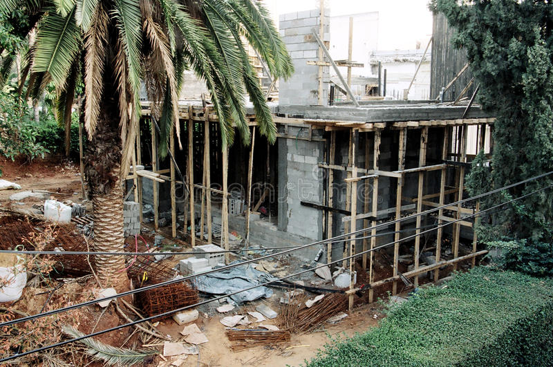 Download Private House Construction Site Stock Image - Image: 30068531