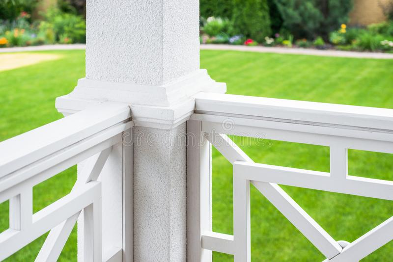 Private house porch railing stock images