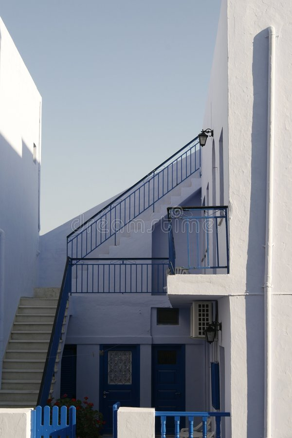 Private house in Santorini Island royalty free stock photography