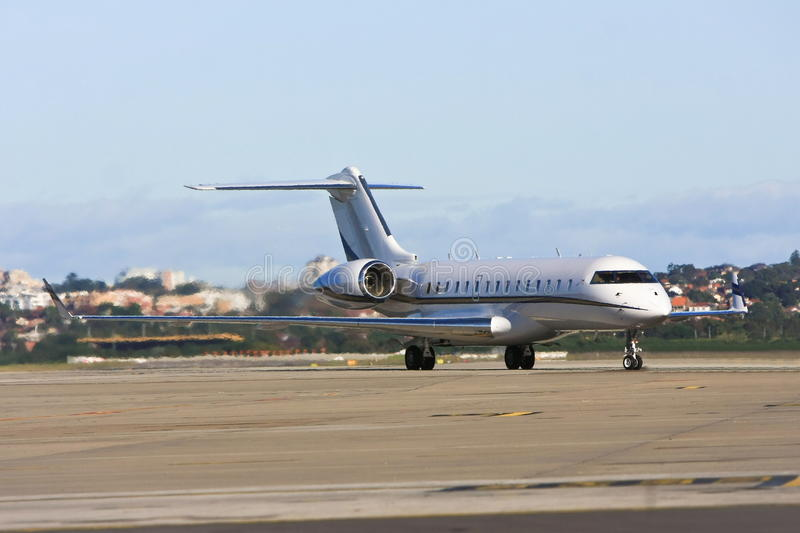 Download Private Jet Airliner On Tarmac Stock Image - Image: 24748727