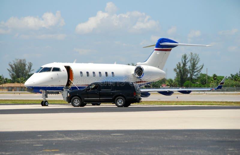 Private jet awaiting passenger royalty free stock photo