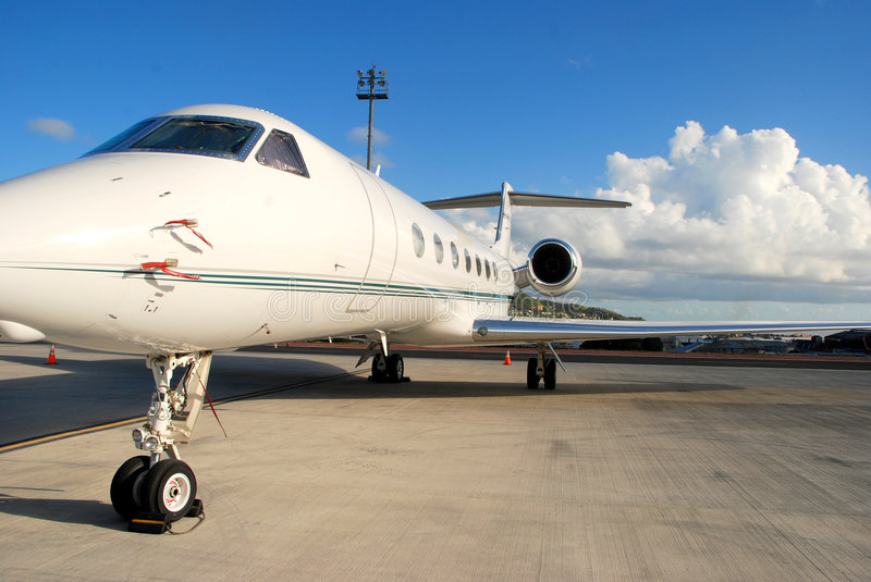 Download Private Jet Ready For Flight Stock Image - Image: 8535219