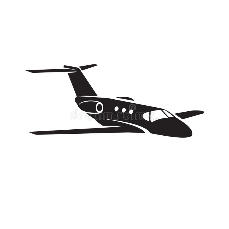 Free Private Jet Vector Icon. Business Jet Illustration Flat Design. Royalty Free Stock Photos - 125039908