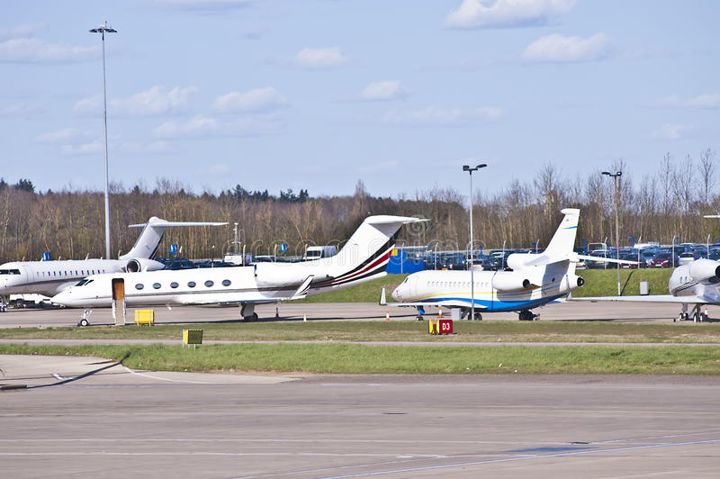 Private jets stock photography