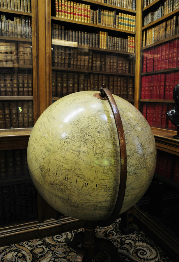Download Private Library With Globe Instrument Royalty Free Stock Images - Image: 11132229