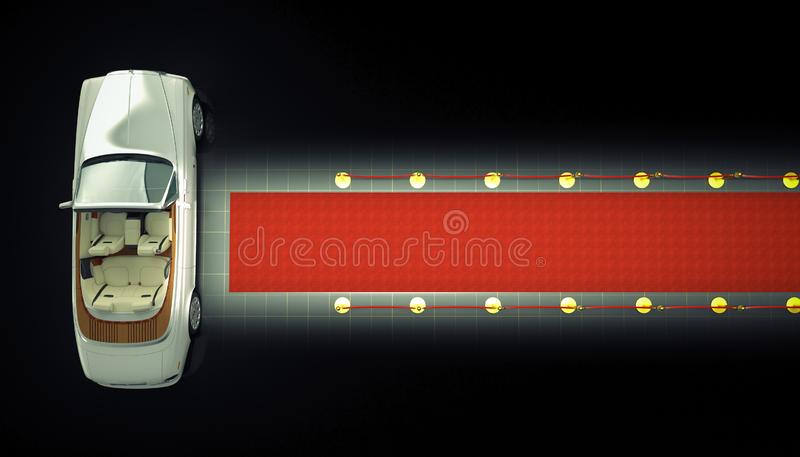 Private limo and red carpet stock illustration