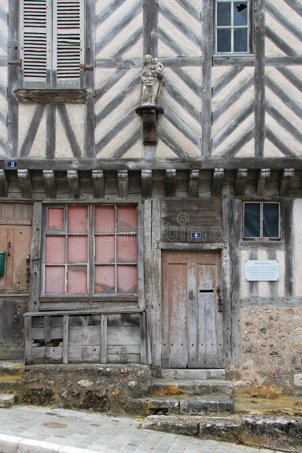 Private medieval house - Châteaudun - France stock image
