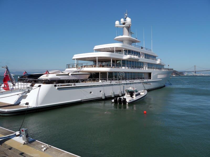 Private Mega Yacht At San Francisco Bay Editorial Image