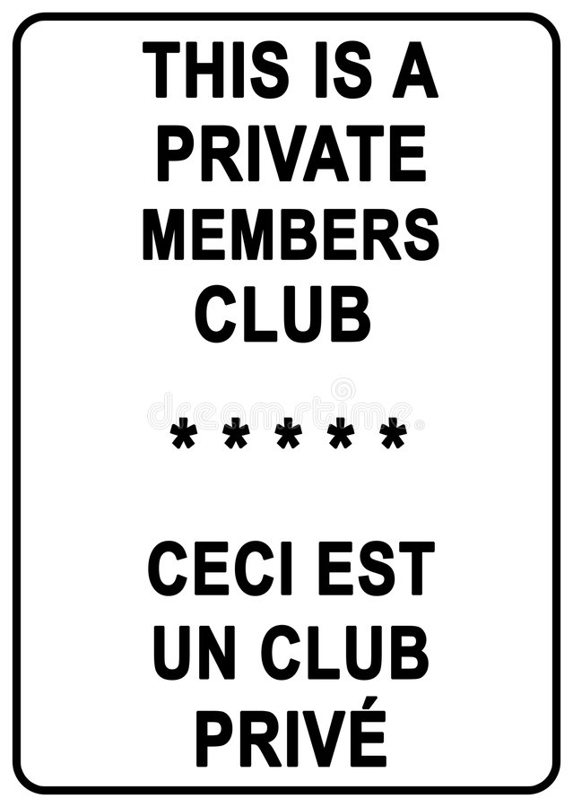 Free Private Member S Club Stock Images - 6346774
