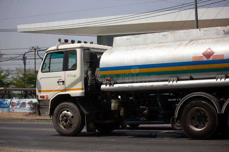 Private Oil Truck. Chiangmai, Thailand - March 8 2019: Private Oil Truck. On Truck on road no.1001, 8 km from Chiangmai city stock photo