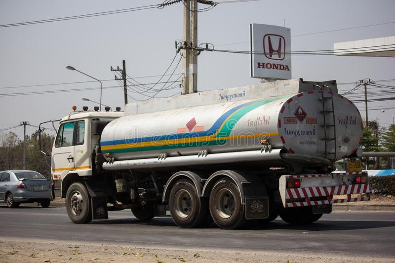 Private Oil Truck. Chiangmai, Thailand - March 8 2019: Private Oil Truck. On Truck on road no.1001, 8 km from Chiangmai city royalty free stock photography