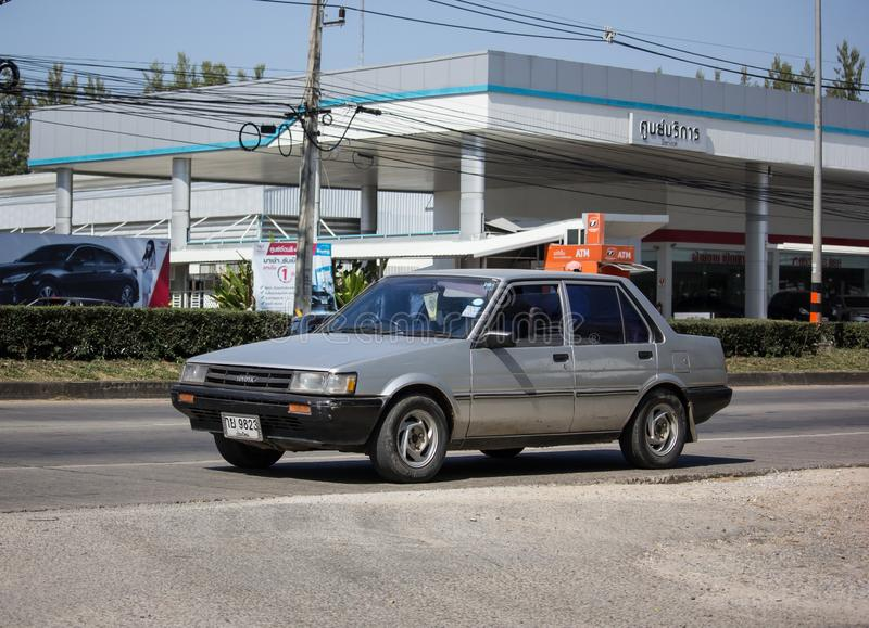 Private Old car, Toyota Corolla royalty free stock photos