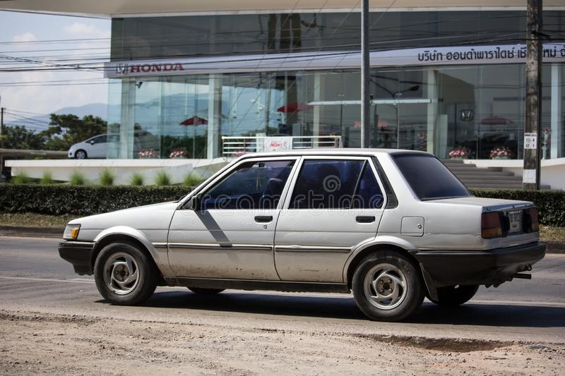 Private Old car, Toyota Corolla royalty free stock image