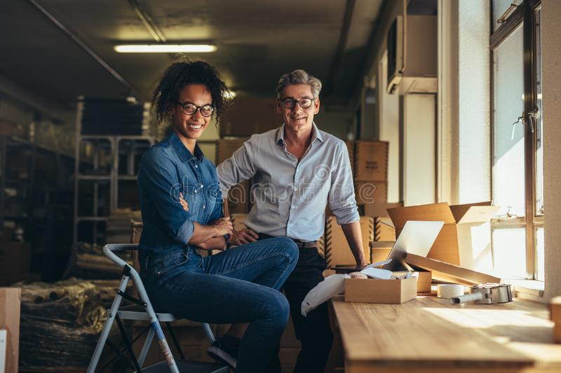Private online business owners stock images