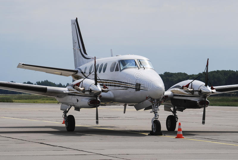 Private propeller airplane royalty free stock image