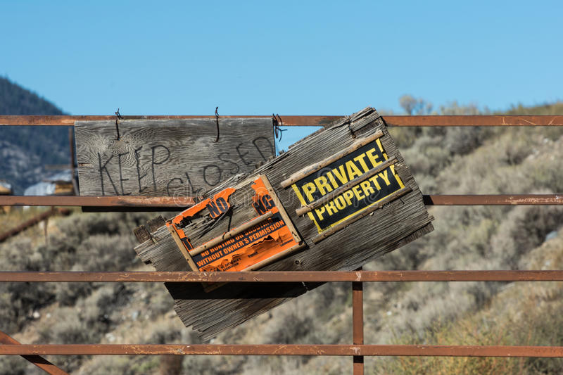 Private Property royalty free stock photography