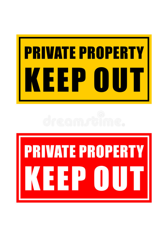 Private property sign. Vector illustration stock illustration