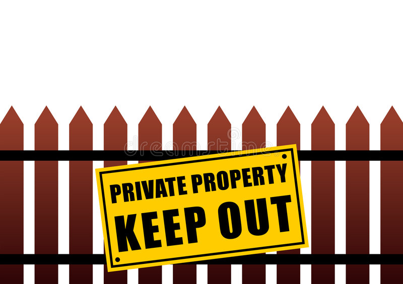 Private property sign. Vector illustration vector illustration